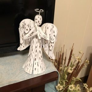 Distressed Handmade Wooden Angel